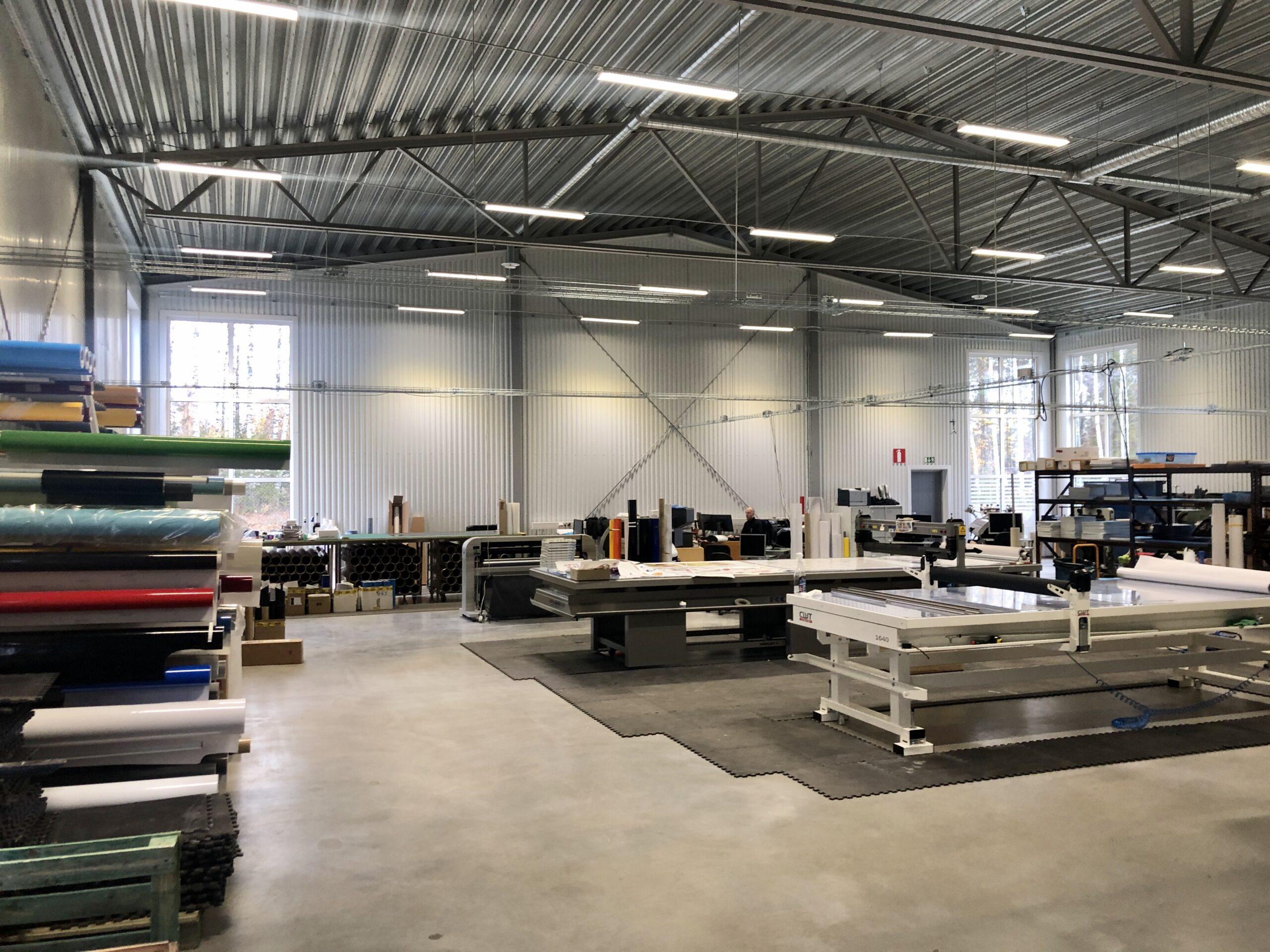 Concil i Lidköpings produktionshall.